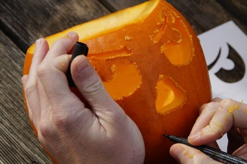 Carving a Jack-O-Lantern for the Worthy Saints