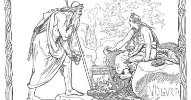Odin Calls Upon The Wise Woman – Final Destiny of the Gods