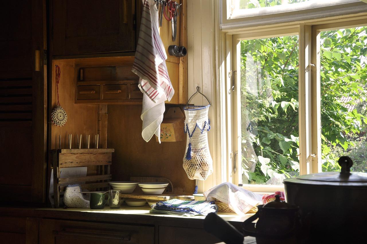 Mountainsides outside the kitchen window...