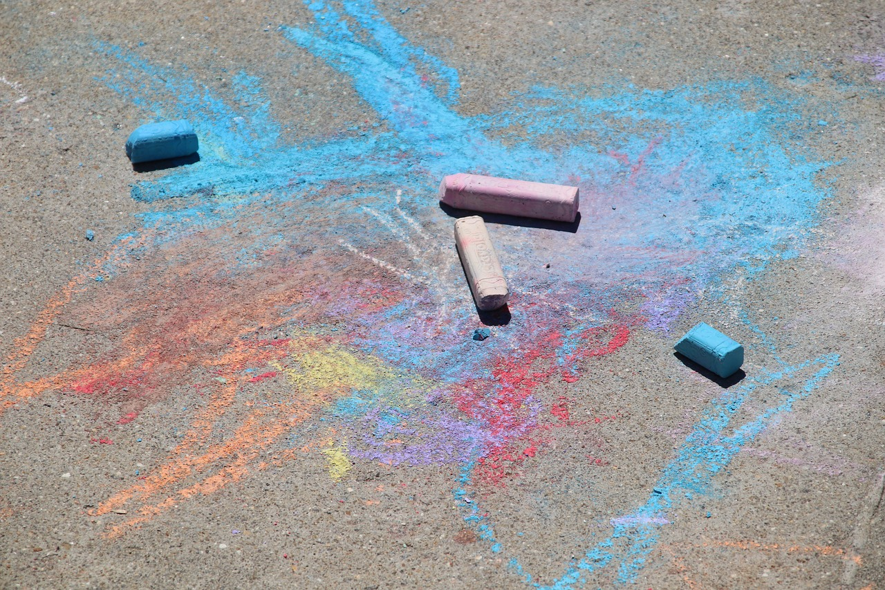 A day to use our sidewalk chalk..